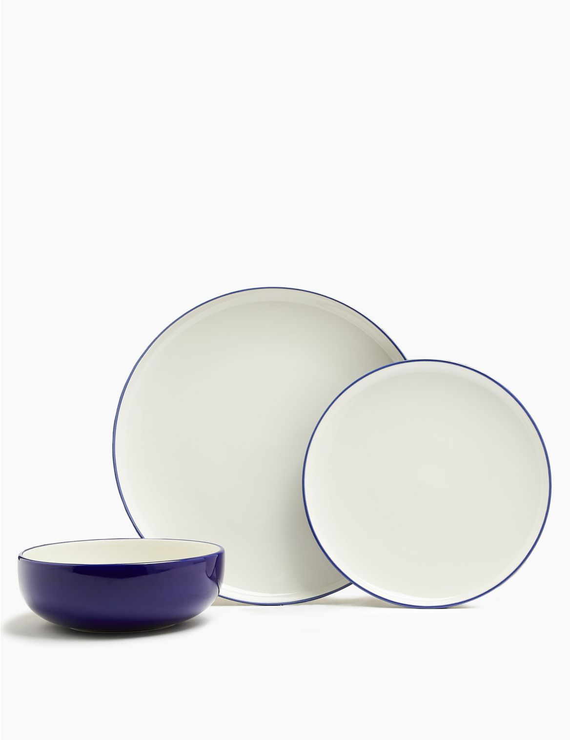 12 Piece Tribeca Dinner Set cobalt