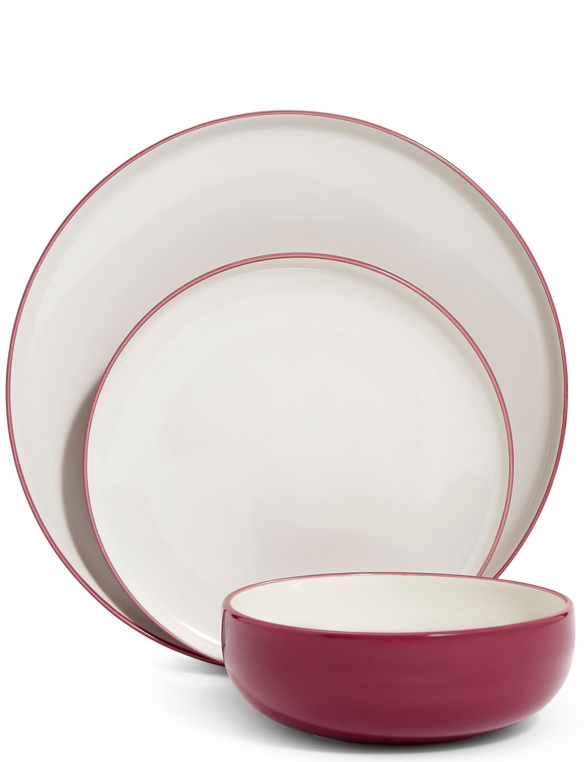 12 Piece Tribeca Dinner Set rose
