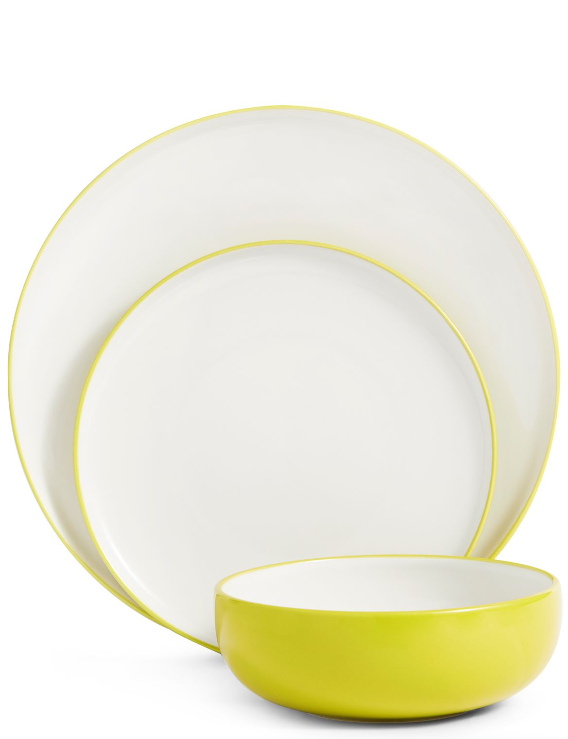 12 Piece Tribeca Dinner Set lime green