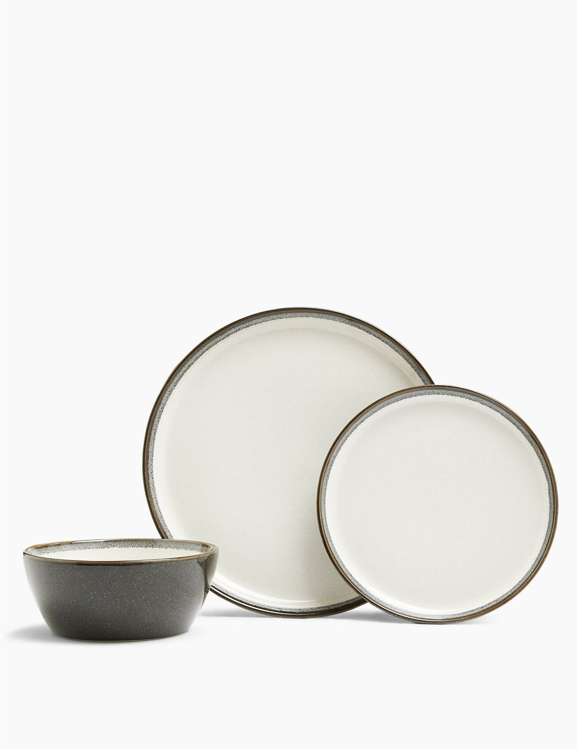 12 Piece Amberley Dinner Set charcoal