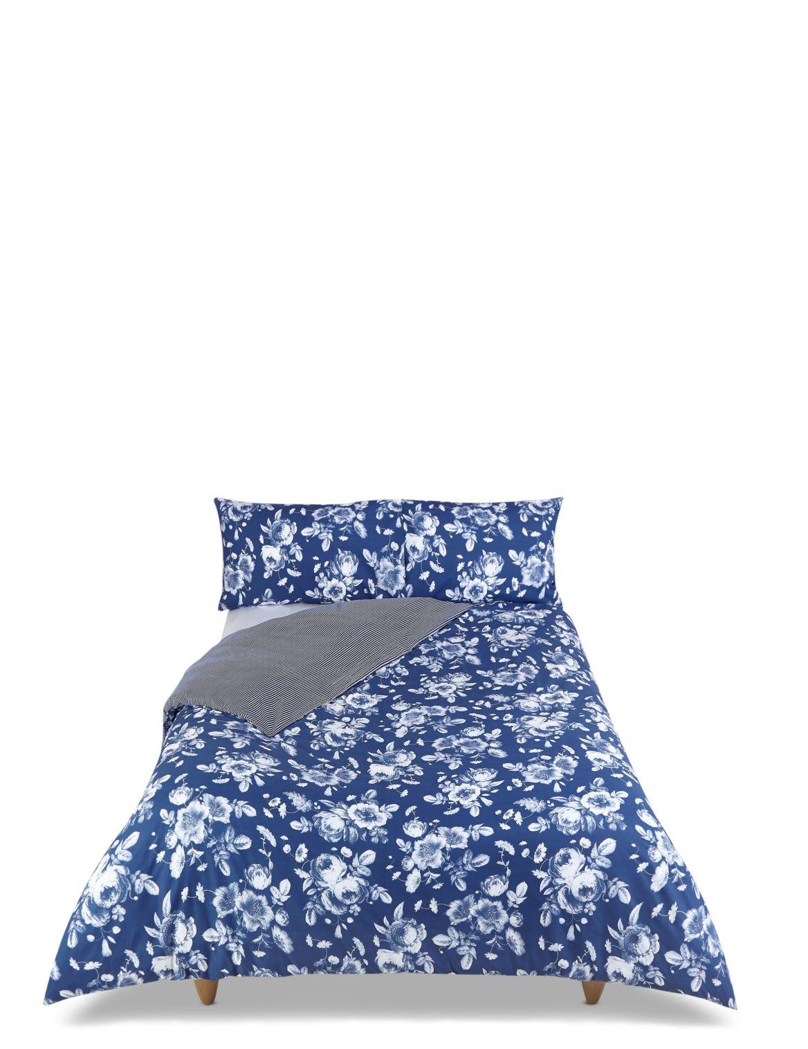 Signature Floral Bedding Set navy mix