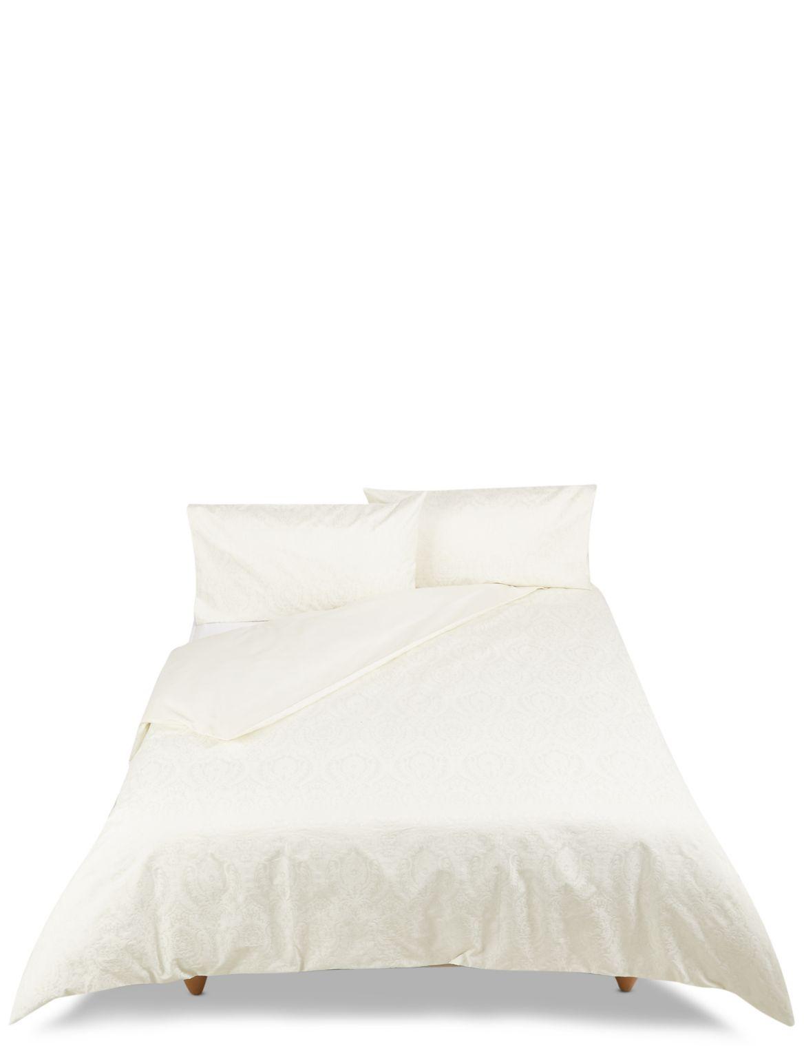 Abbey– Parure de lit damassée à motif jacquard