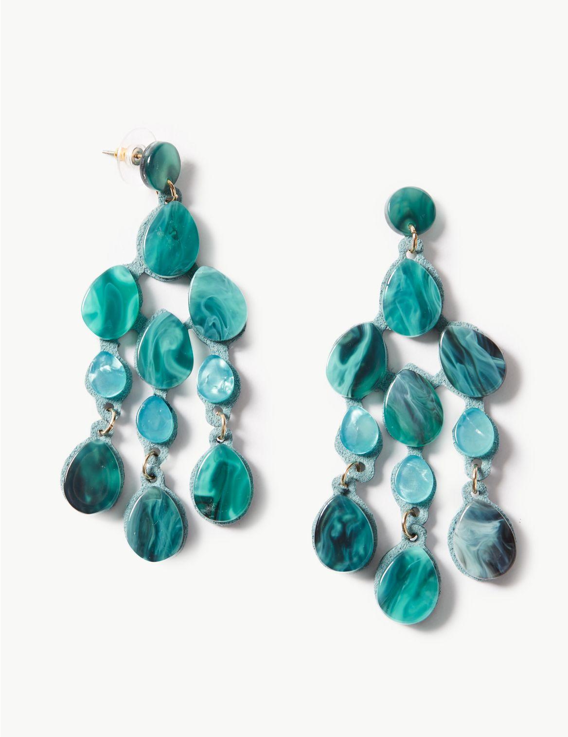 Rain Shower Drop Earrings turquoise