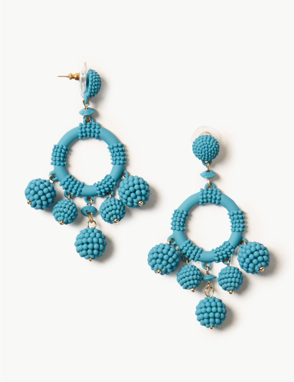 Circle Drop Earrings turquoise