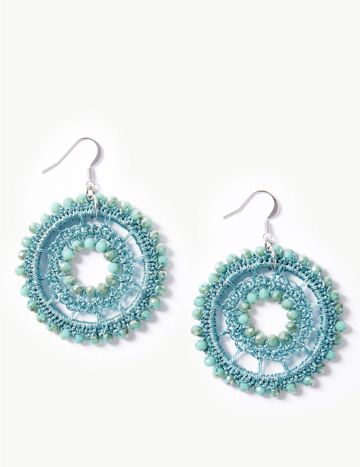 Woven Glitz Drop Earrings turquoise