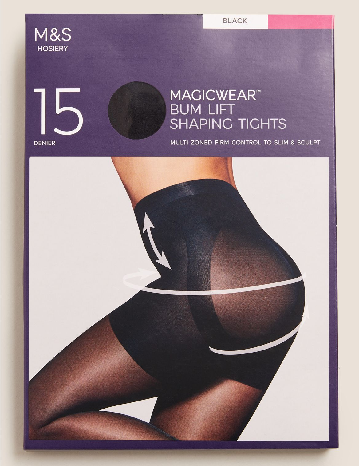 15 Denier Magicwear™ Matt Body Shaper Tights black