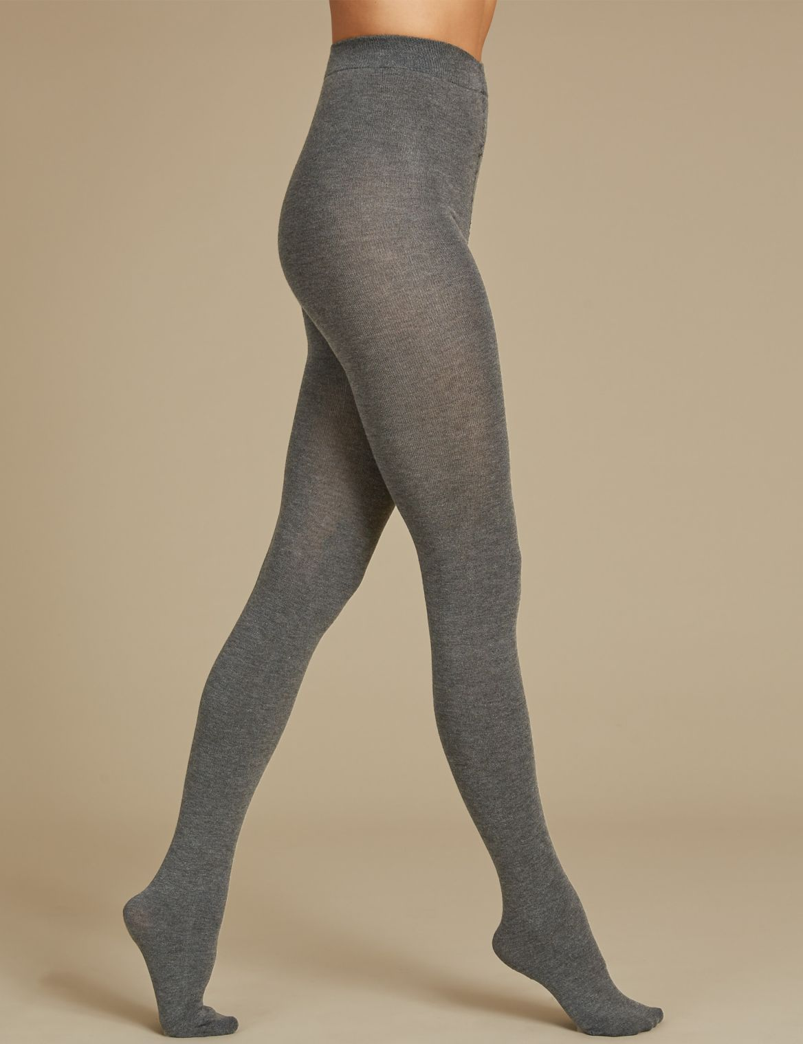 100 Denier Supersoft Tights grey marl