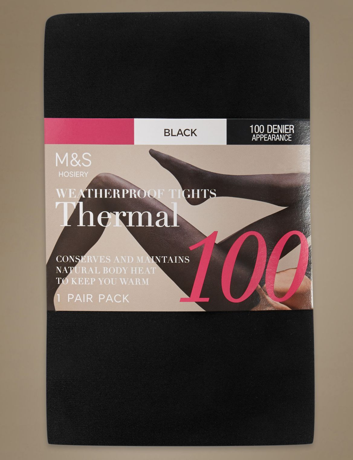 100 Denier Thermal Tights black