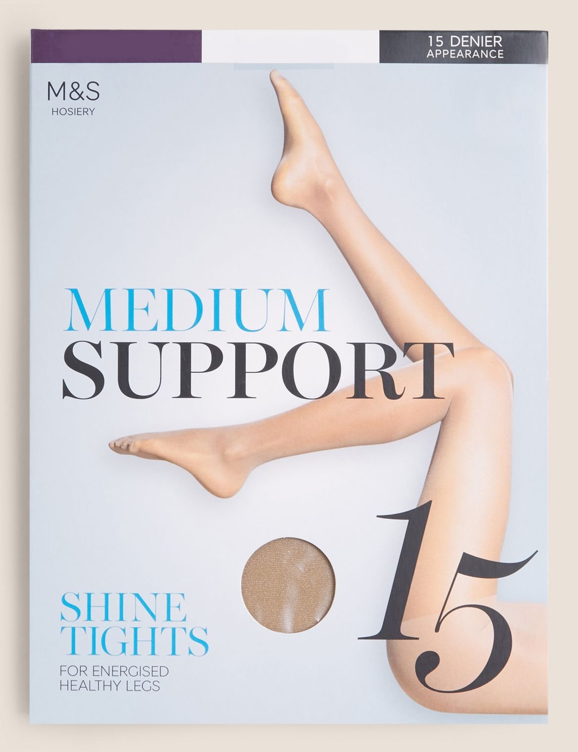 15 Denier Medium Support Sheer Tights illusion