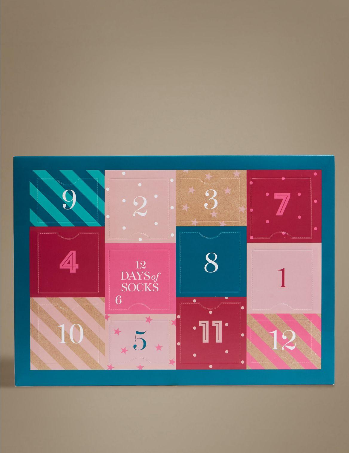 12 Days of Christmas Socks multi