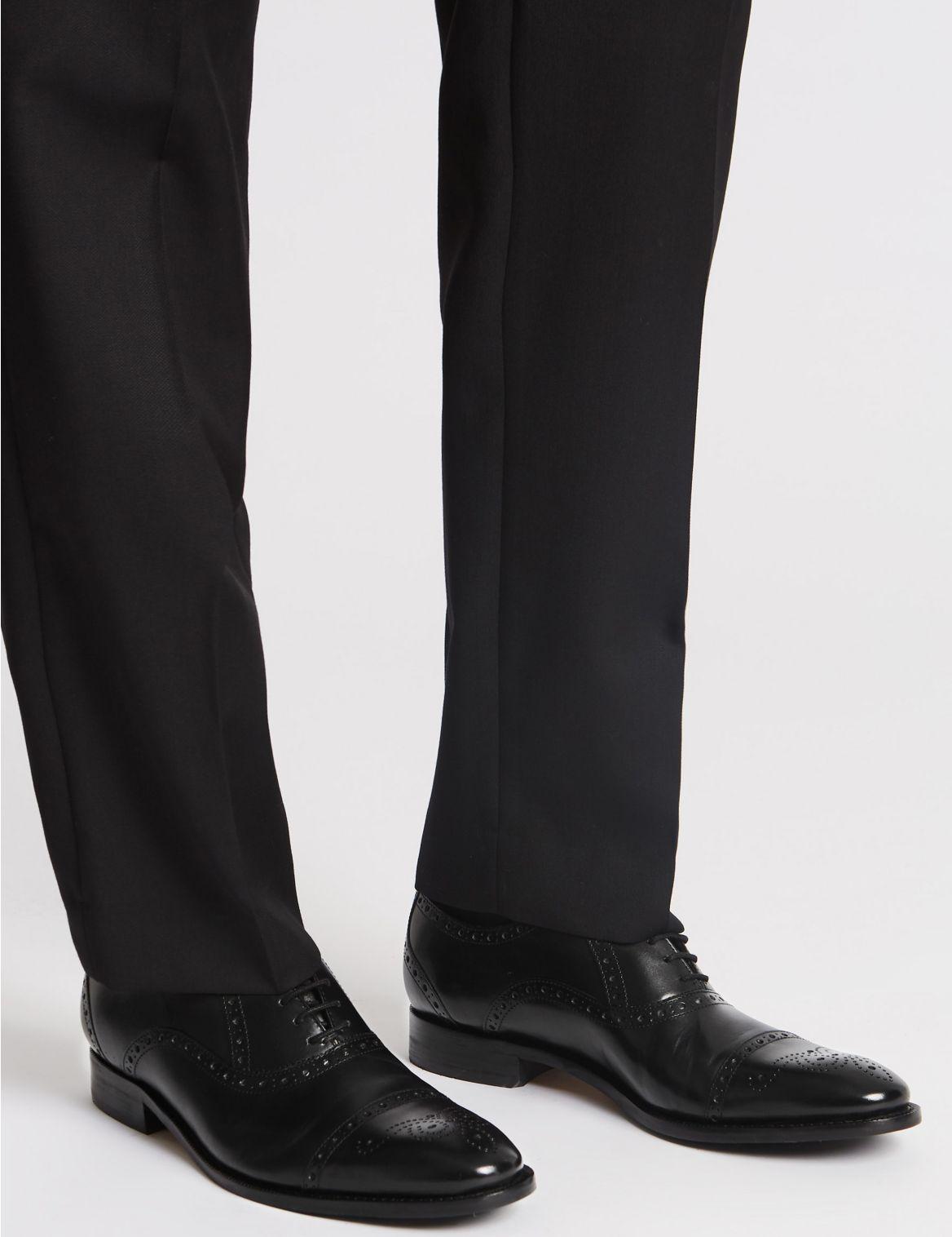 Richelieux extra-larges en cuir