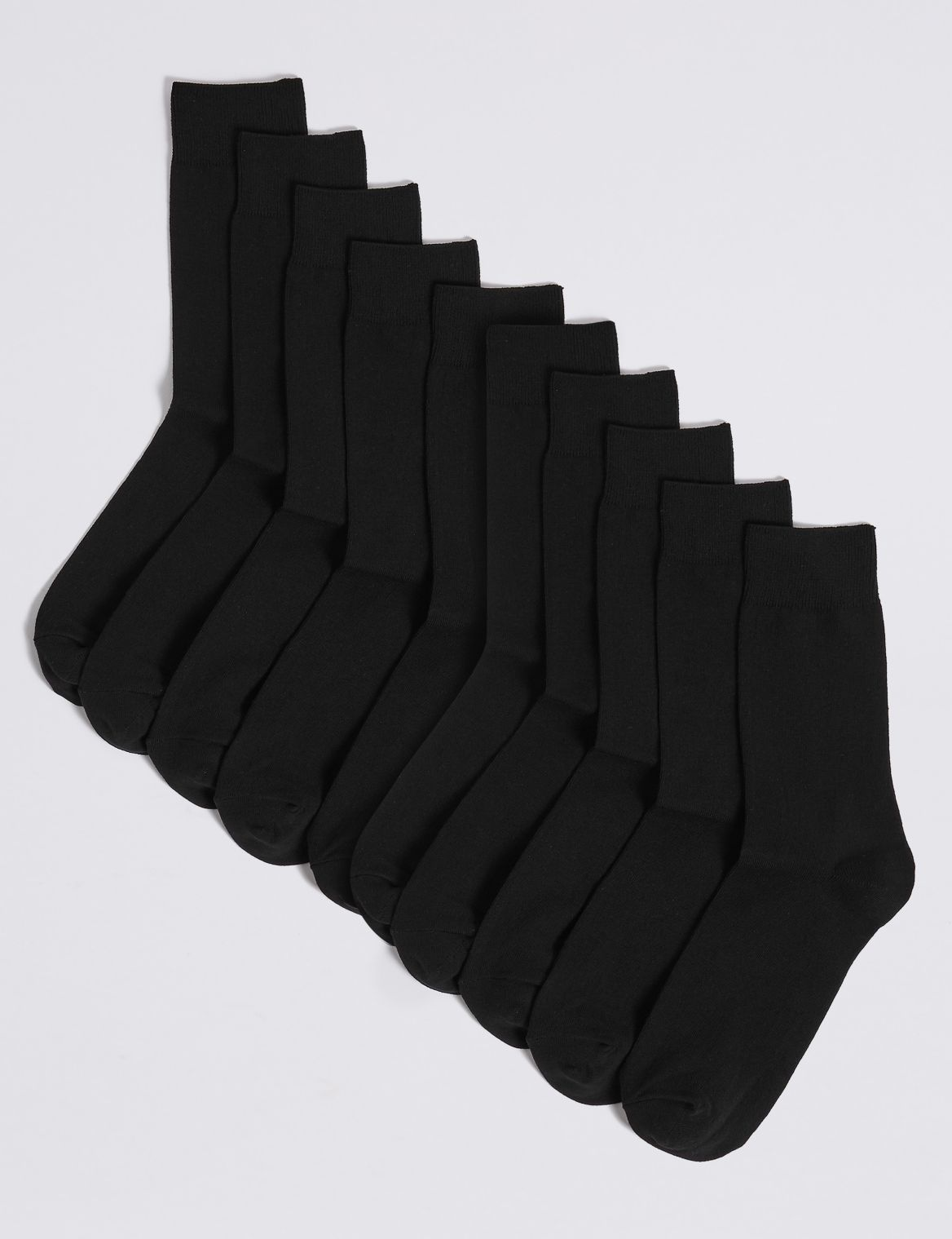 10 Pack Cotton Rich Socks black