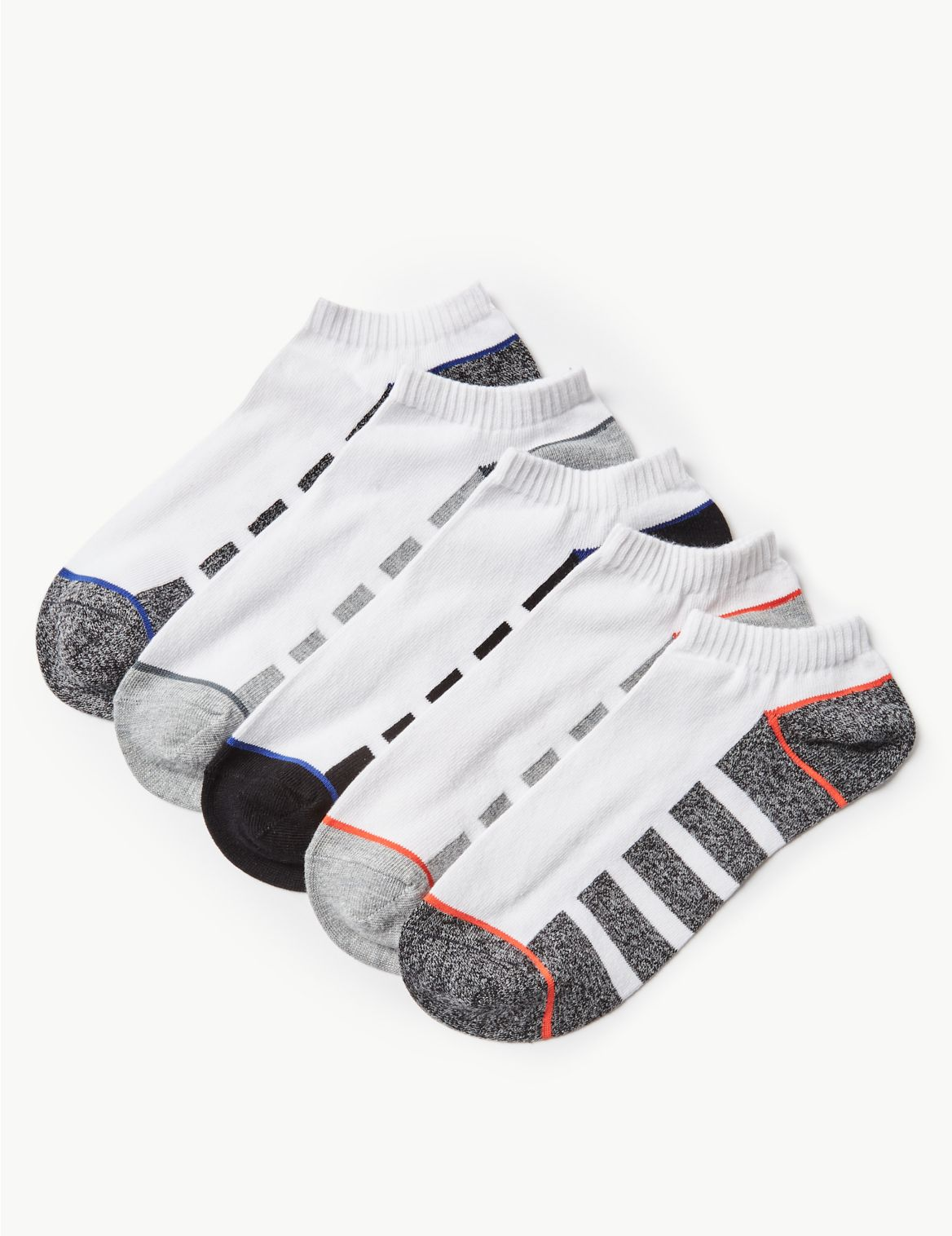 Lot de 5paires de socquettes de sport en coton. StyleForme du produit:Socquettes de sport;Tissu extensible