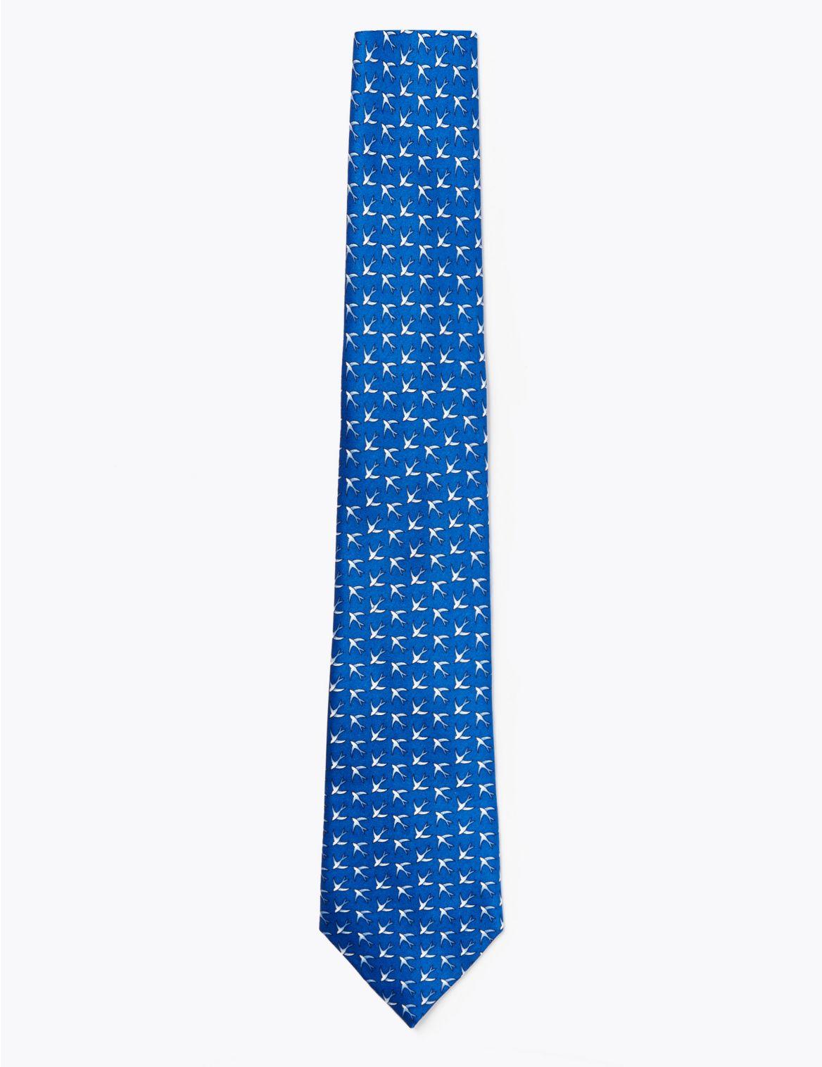 Cravate classique en soie de qualitĂŠ supĂŠrieure Ă imprimĂŠ hirondelle