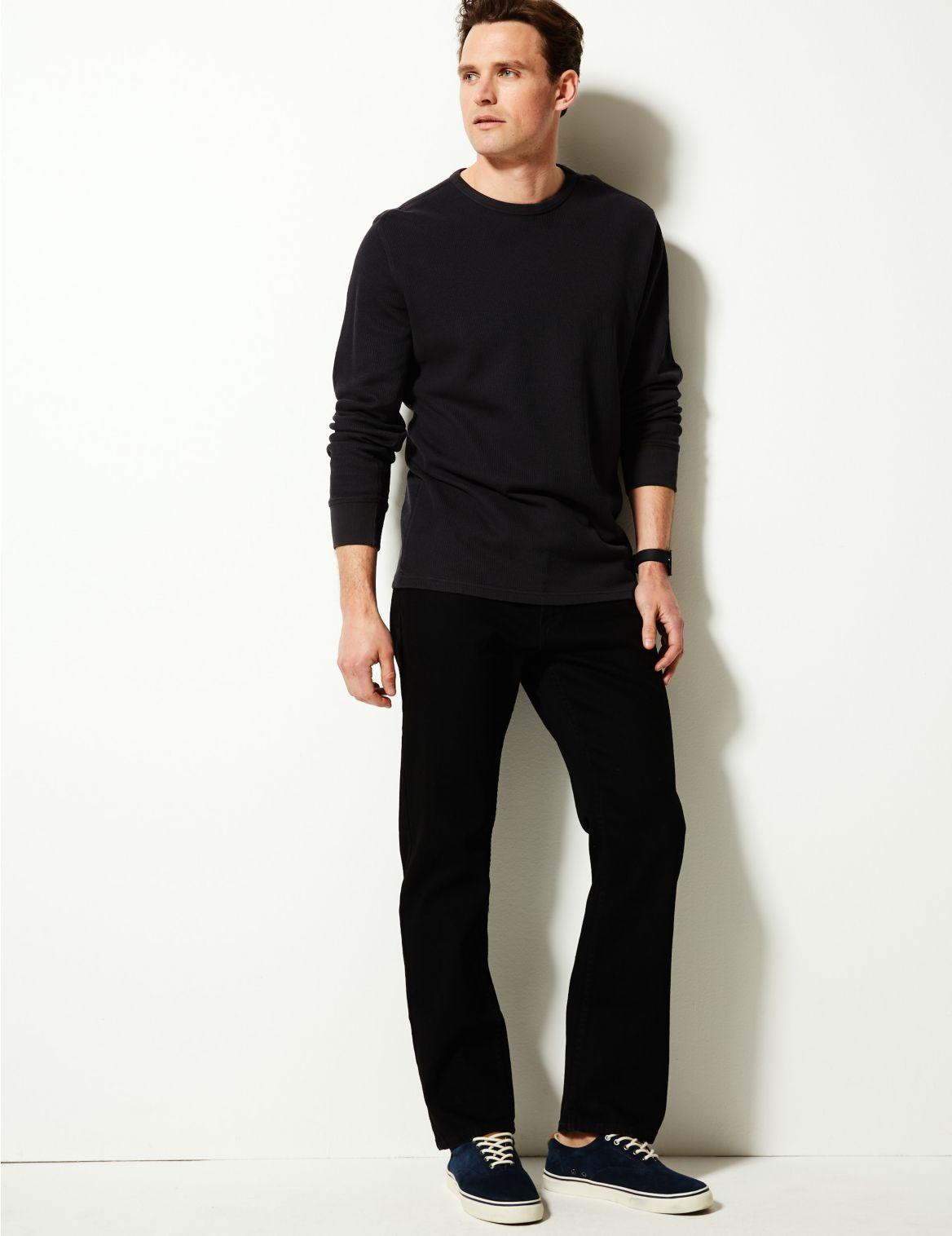 Jean extensible coupe droite, doté de la technologie Stormwear