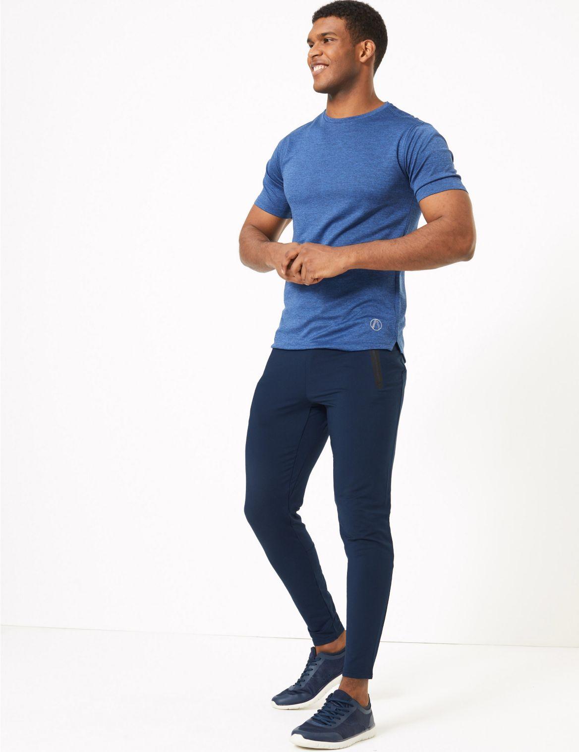 Jogging de sport coupe fusel??e. StyleForme du produit:Joggings;Longueur du produit:Longueur cheville;Coupe slim;Taille ??lastique;Tissu extensible