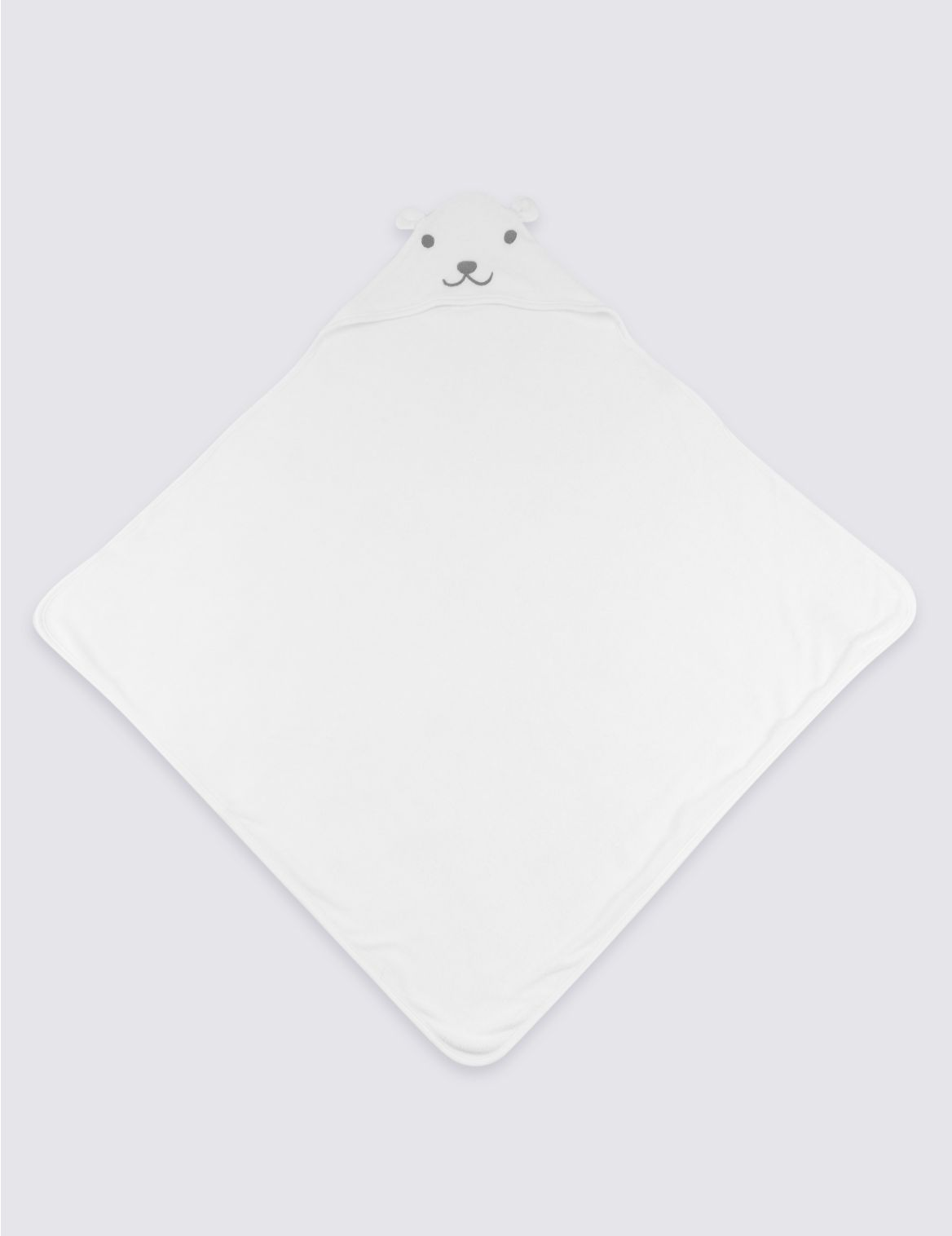 Organic Cotton Hooded Towel white