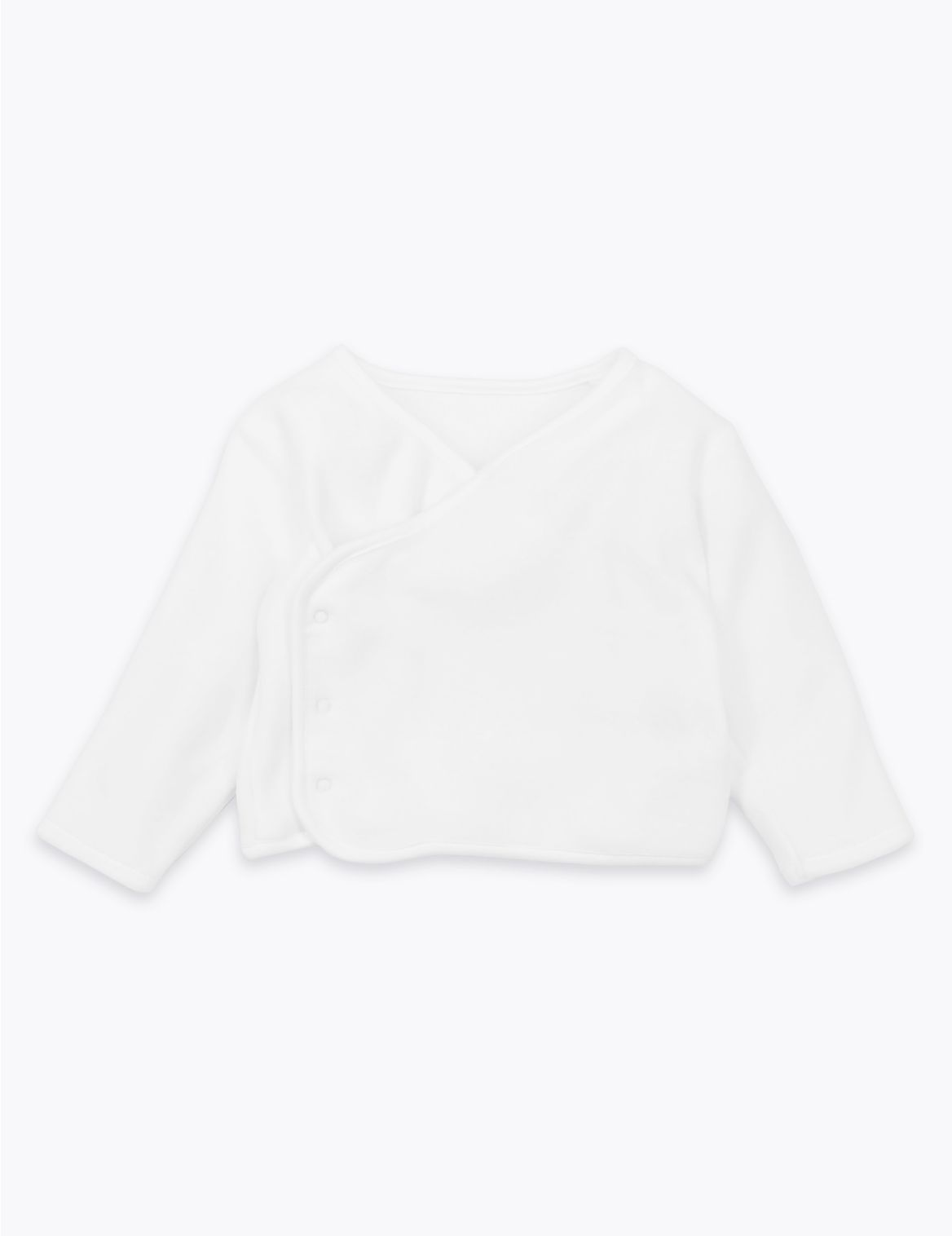 Organic Cotton Velour Cover-Up Top white