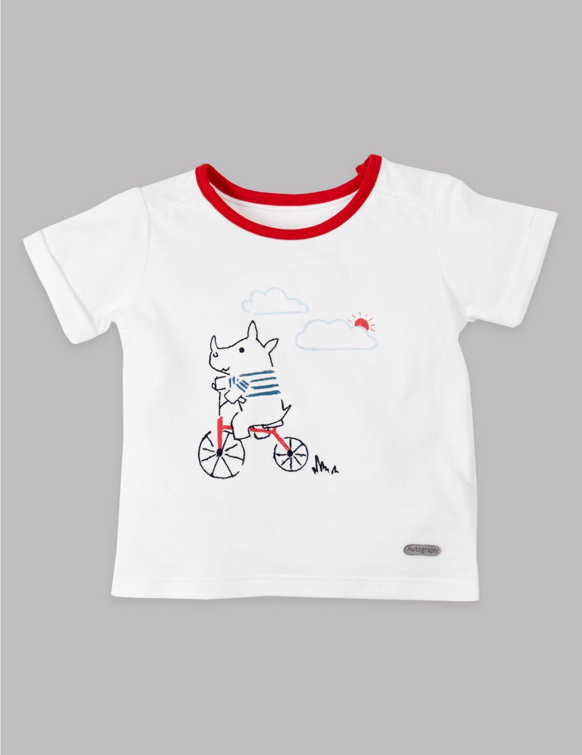 Cotton Rich Rhinoceros T-Shirt soft white