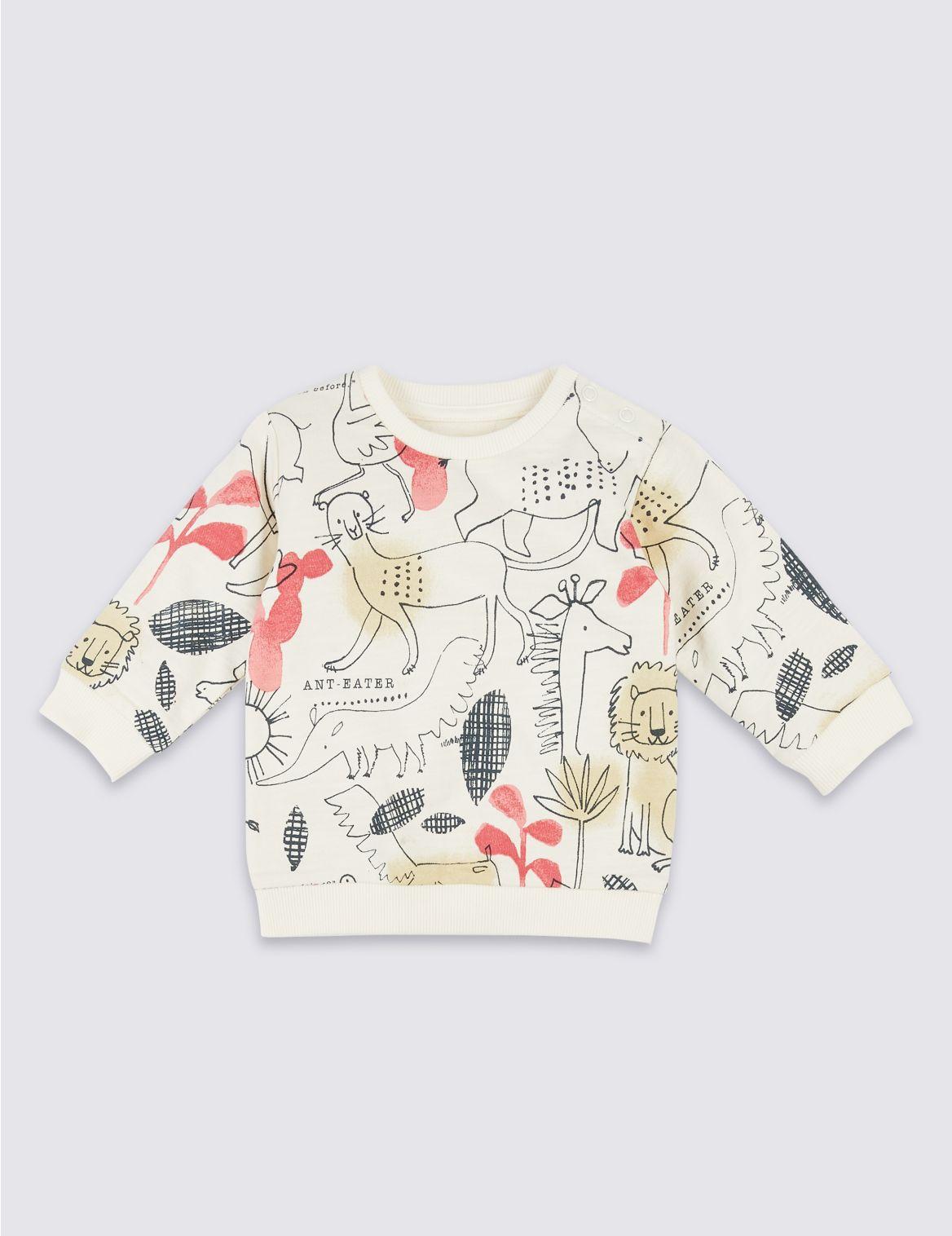 Pure Cotton Safari Sweatshirt winter white