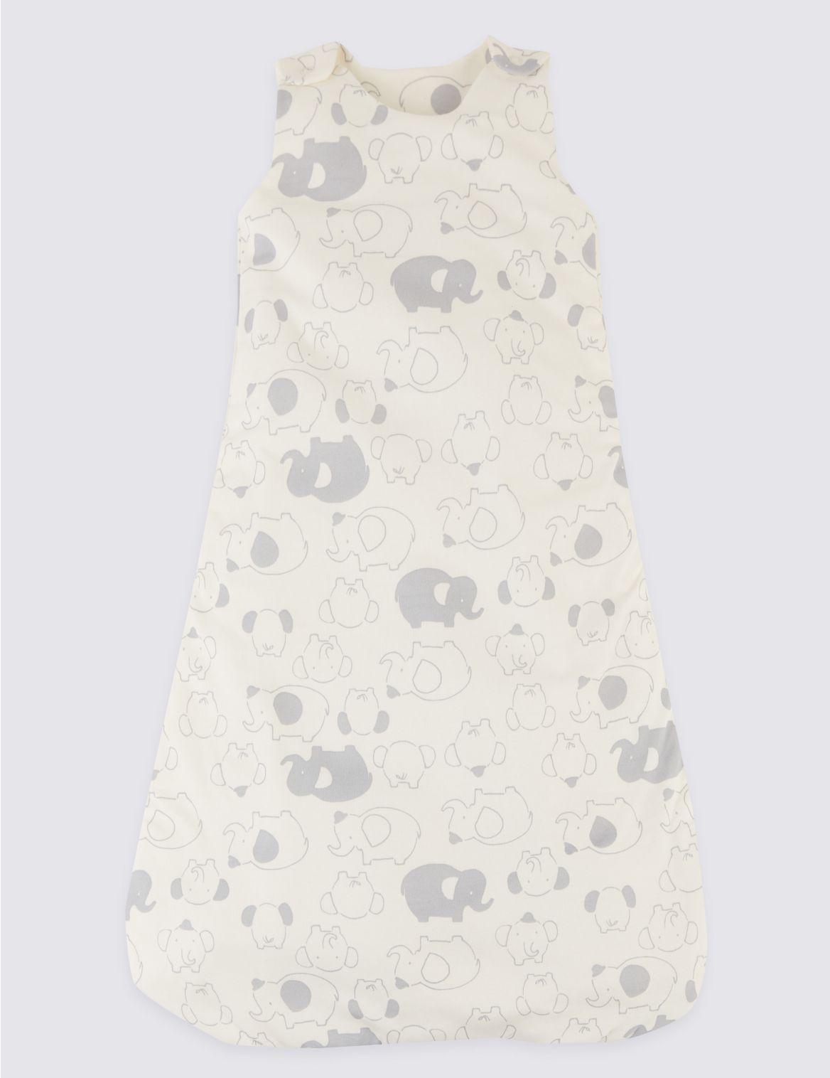 Organic Cotton 1.3 Tog Face Sleeping Bag medium grey