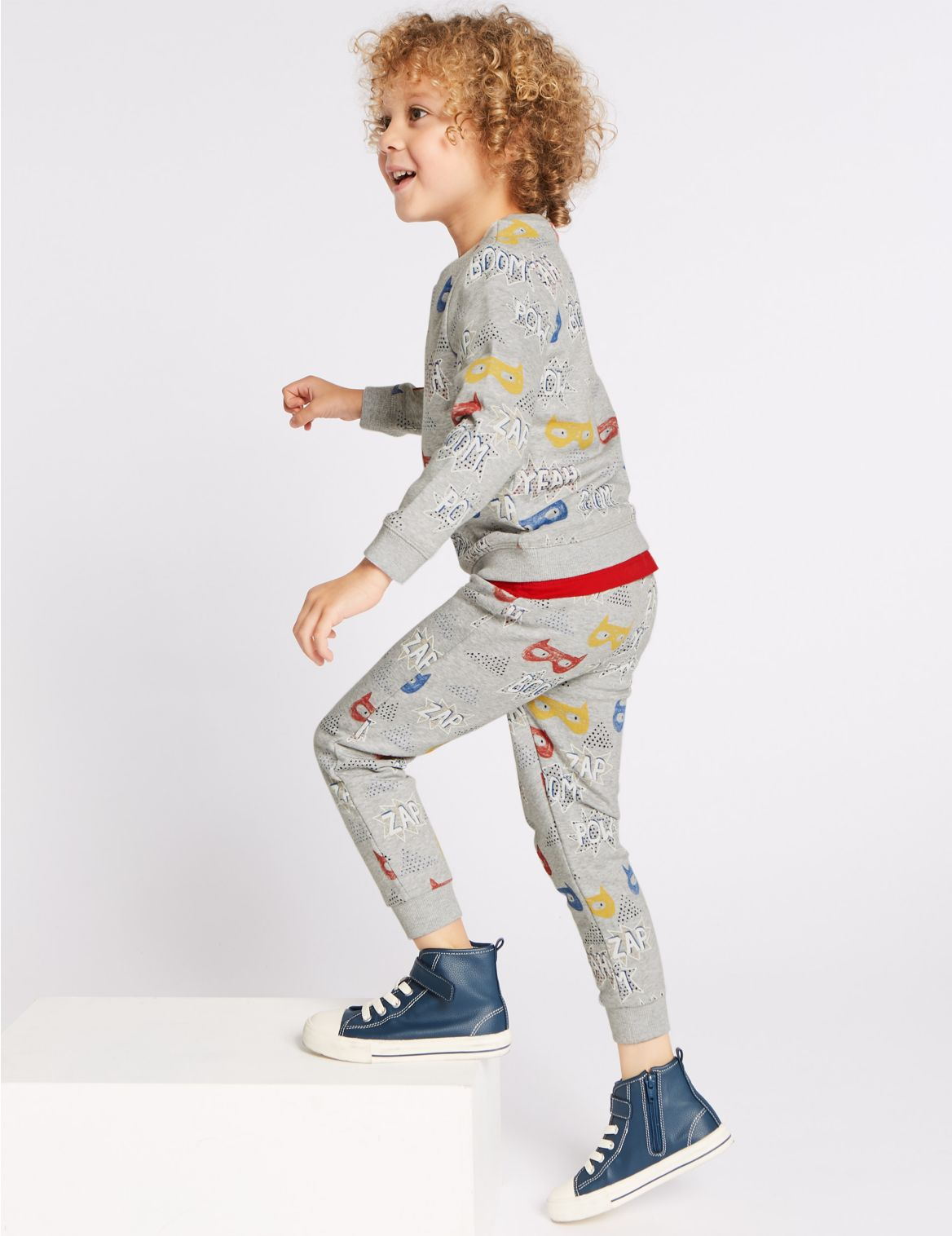 All Over Mask Print Joggers (3 Months – 7 Years) multi