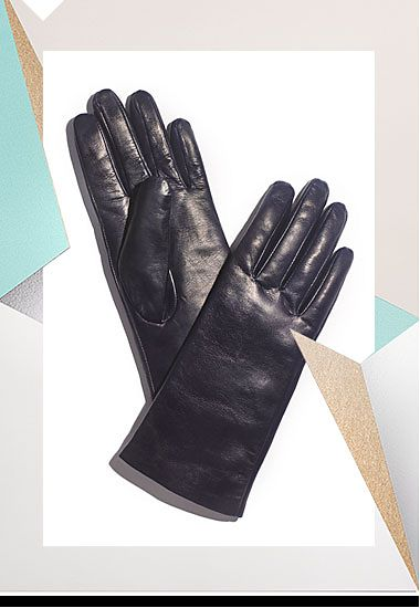 Leather womens winter gloves