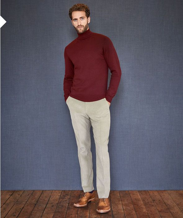 How to wear men's roll neck jumpers