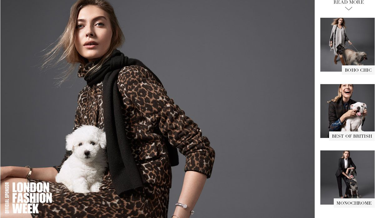 Model wears M&S Collection leopard-print jacket and skirt