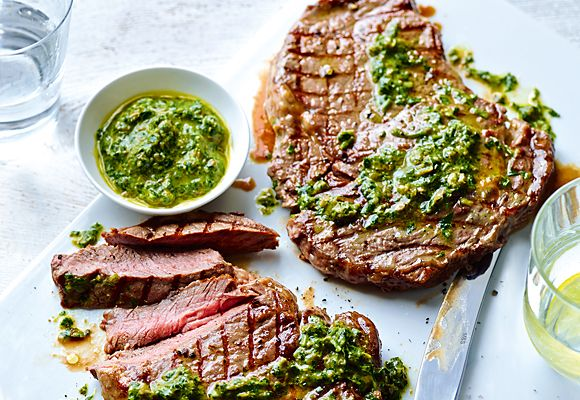Steak with Salsa Verde