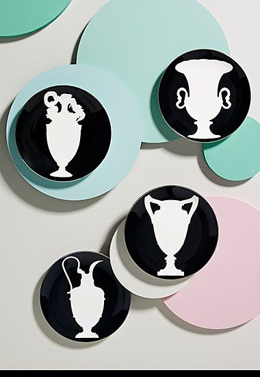 Four Sue Timney silhouette  side plates