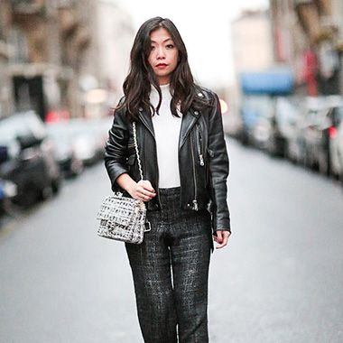 8fed1b38 How to wear the leather biker jacket