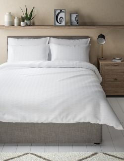 P22378101: Pure Cotton Striped Seersucker Bedding Set