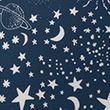 Cotton Mix Constellation Bedding Set - navymix