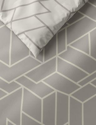 Cotton Mix Geometric Bedding Set