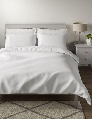 Pure Cotton Chevron Textured Bedding Set