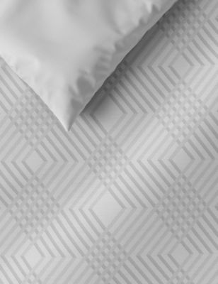Pure Cotton Geometric Sateen Bedding Set