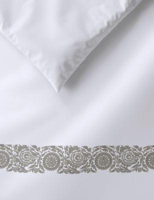Pure Cotton Embroidered Edge Bedding Set