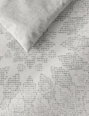 Cotton Rich Geometric Waffle Bedding Set