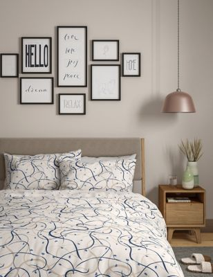 Pure Cotton Drawn Lines Bedding Set