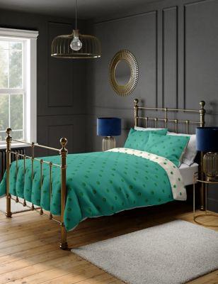 Cotton Mix Peacock Bedding Set