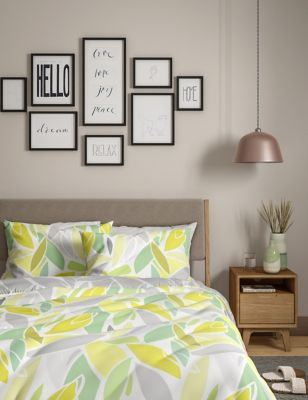 Cotton Mix Leaf Bedding Set