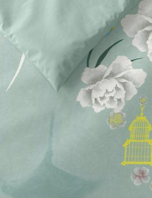 Pure Cotton Bird Embroidered Bedding Set