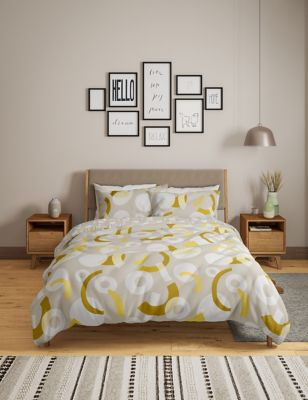 Pure Cotton Geometric Bedding Set