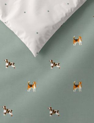 Cotton Mix Hound Dog Bedding Set