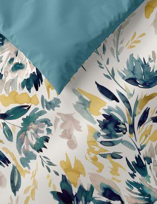 Pure Cotton Watercolour Floral Bedding Set