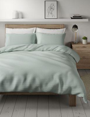 Pure Cotton Spotty Textured Bedding Set