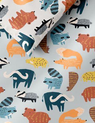 Cotton Rich Woodland Animal Bedding Set
