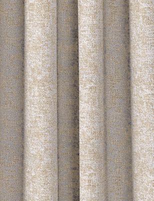 Cotton Mix Foil Texture Eyelet Curtains
