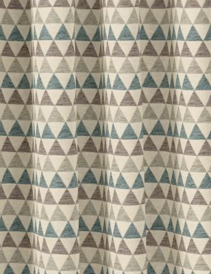 Chenille Triangle Eyelet Curtains